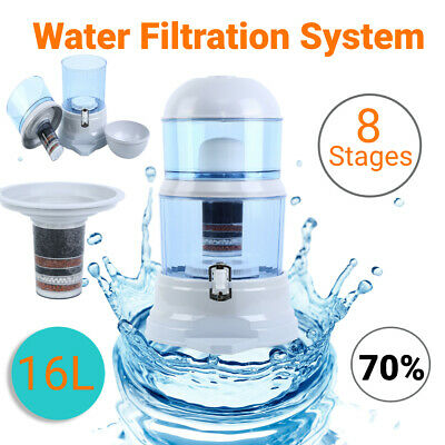 AU54.98 • Buy 16L Home Water Purifier 8 Stage Water Filter Ceramic Dispenser 3 Fluoride System