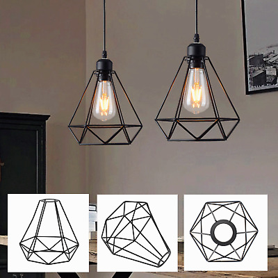 £7.99 • Buy Industrial Wire Cage Style Retro Ceiling Pendant Light Lamp Shade Metal Easy Fit
