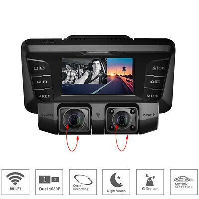 AU169 • Buy Hidden Type Dashcam Wifi Car Dvr Video Recorder Dual Lens For Front And Rear GPS