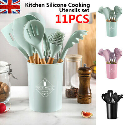 £14.99 • Buy 11pcs Silicone Kitchen Utensils Cookware Set Nonstick Baking Cooking Spoon Tools