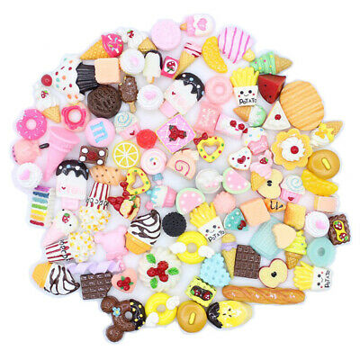 AU6.76 • Buy DIY Mixed Candy Sweets Slime Charms Set Cute Resin Flatback Slime Beads