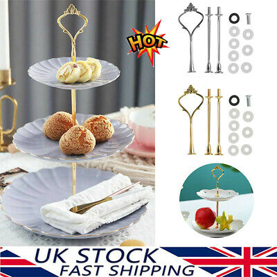 £3.41 • Buy UK 3 Tier Hardware Crown Cake Plate Stand Handle Fitting Wedding Party CB