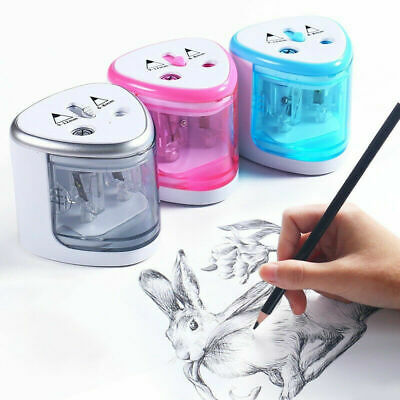 £6.89 • Buy Electric Automatic Pen Pencil Sharpener Dual Hole Stationery Battery Operated