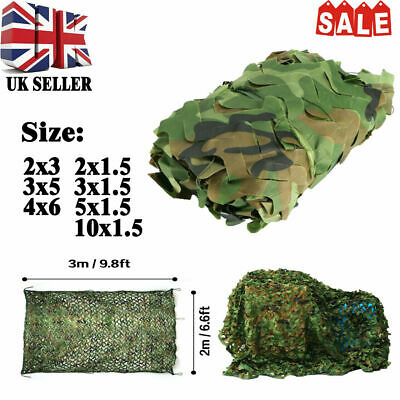 Outdoor Camo Netting Camouflage Net Fence Blind Hunt Garden Sun Shade Mesh Cover • 9.99£