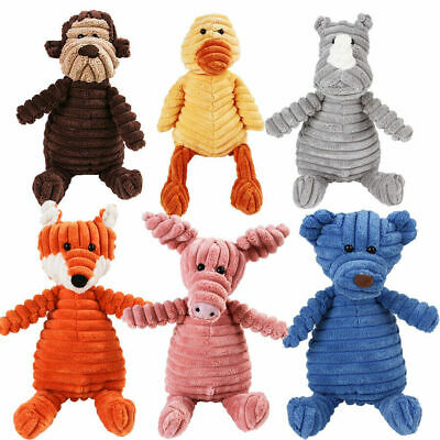 £5.99 • Buy Pet Dog Puppy Chew Toy Squeaker Squeaky Soft Plush Play Sound Teeth Toys Gift UK