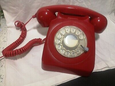 £24.99 • Buy Reproduction GPO 746 Rotary Telephone - Red With User Guide