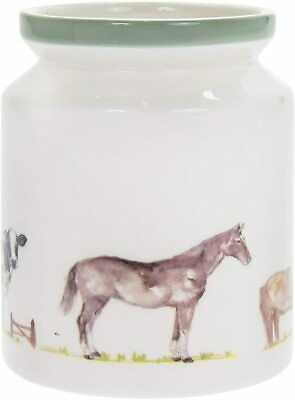 AU20.54 • Buy Country Life Kitchen Utensil Holder Ceramic Pot For Cooking Spoons Storage Caddy
