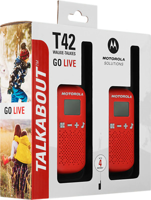 £22.95 • Buy Motorola Talkabout T42 Twin Pack Red