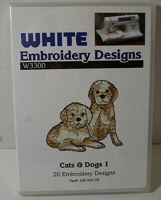 $30 • Buy Cats & Dogs White Embroidery Machine Design Software W3300 NEW