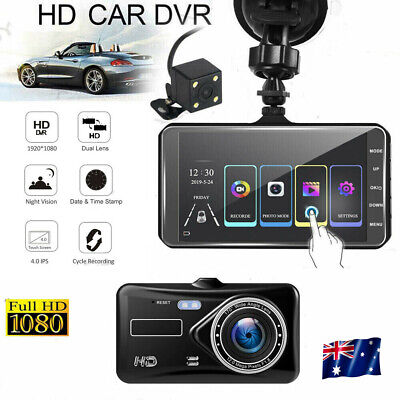 AU52.99 • Buy 4  Car Dash Camera Touch Night Vision Video DVR Recorder Front And Rear Dual Cam