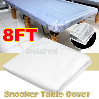 AU14.99 • Buy 8FT Professional White Pool Table Cover Snooker Oxford Cloth Waterproof Dustproo