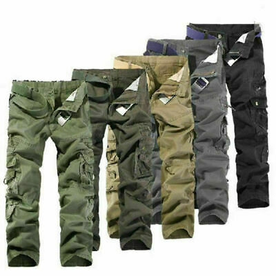 £18.99 • Buy Army Cargo Camo Combat Military Mens Trousers Pants Camouflage Slacks Casual