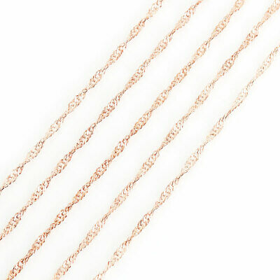 £5.29 • Buy 10 Metres Fine Braided Rope Chain - Gold Plated - Link Size 3mmx2mm - J100480