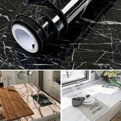 £10.95 • Buy Self Adhesive Vinyl Wallpaper Worktop Cover Kitchen Table Stickers Wrapping Film