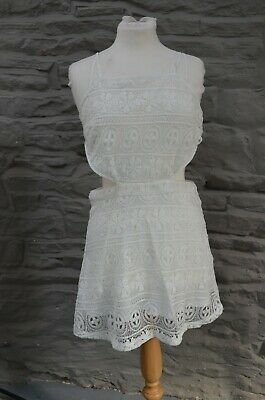 £15 • Buy Ladies New With Tag Hearts And Bows Dress Sleeveless White Lace Cut Out Size 12