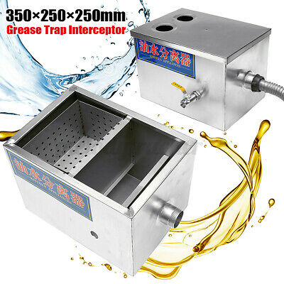 £30.39 • Buy 8LB 5GPM Gallons Grease Trap Stainless Steel Interceptor Kitchen Kit Wastewater
