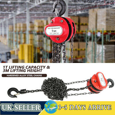 £31.01 • Buy Lifting Chain Hoist Block And Tackle 1t Winch Engine Lift Puller Fall Heavy Duty