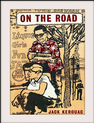 £9.99 • Buy JACK KEROUAC On The Road  20  X 16  Vintage Style Mounted Poster Print NEW Ref31
