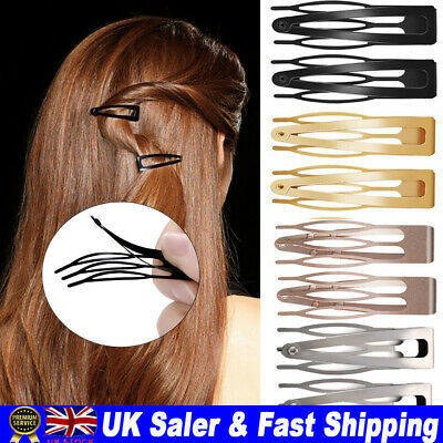 £5.22 • Buy 10Pcs/Set Girls Double-grip Hair Clips Metal Snap Barrettes Hair Styling Tool UK