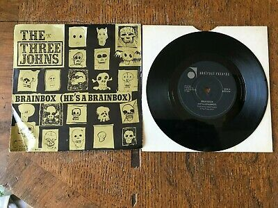 £1.99 • Buy The Three Johns Vinyl 7  Single  He's A Brainbox Abstract Records ABS 036