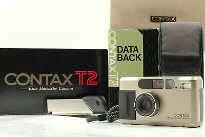 $ CDN1528.56 • Buy 【 MINT+  W/ Case In Box 】Contax T2 Deta Back Titan Silver Film Camera From JAPAN