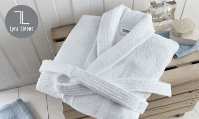 £18.99 • Buy 100% Cotton Hotel & Spa Quality Terry Towelling Dressing Gown Bathrobe White