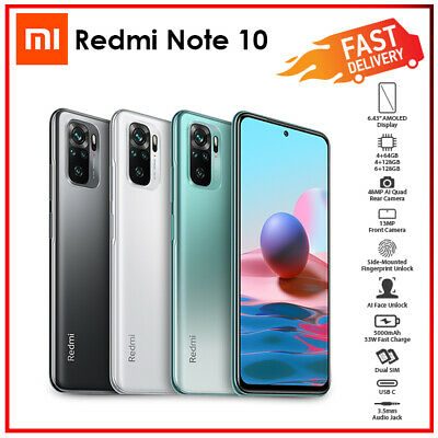 AU325 • Buy Xiaomi Redmi Note 10 6GB+128GB White Green Grey Android Mobile Phone (Unlocked)