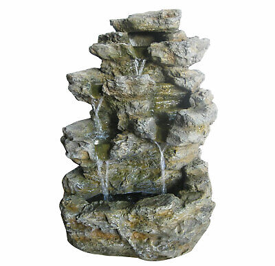 £119.99 • Buy Charles Bentley Large Stone Effect Outdoor Water Feature Fountain White LEDs