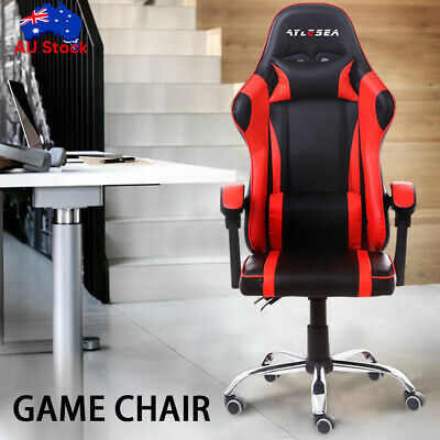 AU93.99 • Buy Gaming Chair Office Chair Computer Executive Chairs Seating Footrest Racer NEW