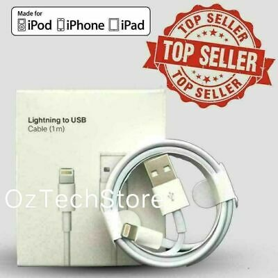 AU4.99 • Buy Top Quality Cable Cord Charger For Genuine  IPhone 6 7 8 11 12 Plus IPad 1M