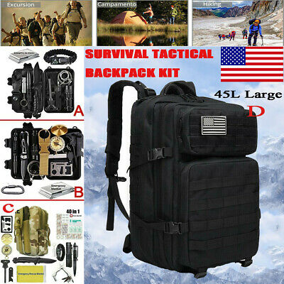 $34.99 • Buy Tactical Backpack Survival Kit Military Camping Emergency Outdoor EDC Gear Kits