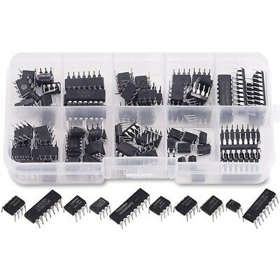 £8.33 • Buy 1X(85 Pieces 10 Types Integrated Circuit Chip Assortment Kit, DIP IC Socket L5M4