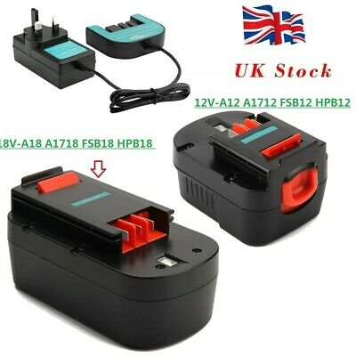 £18.89 • Buy Battery/Charger For Black Decker 12V A1712 A12 HPB12,18V A1718 HPB18-OPE A18