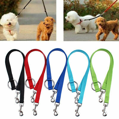 AU3.88 • Buy Double Ended Dog Lead For 2 Dogs 2 Way Coupler Leash Reflect T1Y5 Walking J6H3