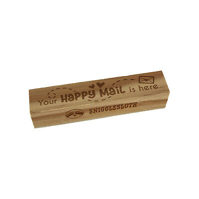 $9.99 • Buy Your Happy Mail Is Here Envelope With Heart Rectangle Rubber Stamp For Stamping