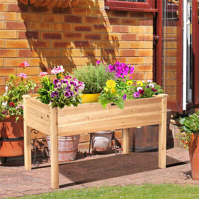 £53.95 • Buy Anticorrosion Raised Vegetable Planter Box Heavy Duty Wooden Elevated Garden Bed