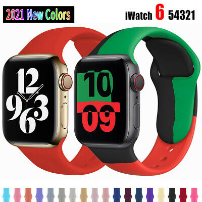 $ CDN4.99 • Buy Silicone Sports Strap For Apple Watch Series 6 5 4 3 2 SE IWatch Band 38/40/44mm
