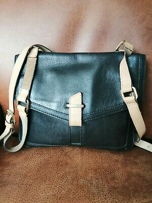 £10 • Buy Stunning M&S Autograph Black Leather Crossbody Bag Excellent Gently Used Cond