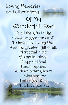 £3.20 • Buy Waterproof Grave Card Memorial Fathers Day FD06