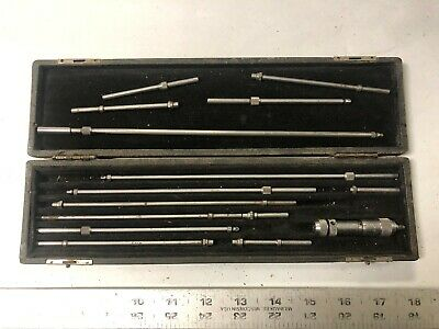 $80.99 • Buy MACHINIST TOOLS LATHE MILL Millers Falls Inside Micrometer Gage In Case OkCb