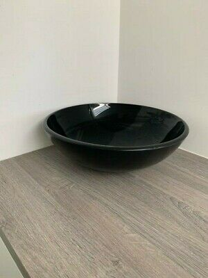 £26 • Buy ** BIG DISCOUNT ** Large Black 42cm Glass Bathroom Sink With Small Fault