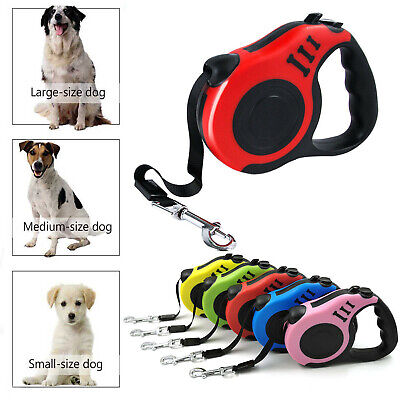 £9.29 • Buy Durable Dog Leash Retractable Nylon Lead Extending Puppy Walking Running Leads