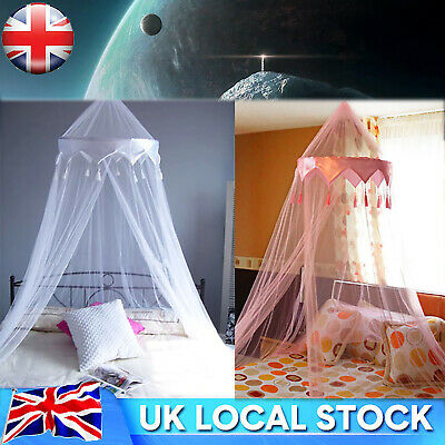 £8.13 • Buy Mosquito Net Canopy Fly Insect Protect Single Entry For Double King Bed UK STOCK