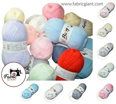 Baby Wool, Soft DK Double Knitting Yarn, Woolcraft Babycare 100g BUY 10+ SAVE 5% • 1.39£