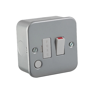 £7.62 • Buy Knightsbridge M6300F Metal Clad 13A Switched Fused Spur Unit With Flex Outlet