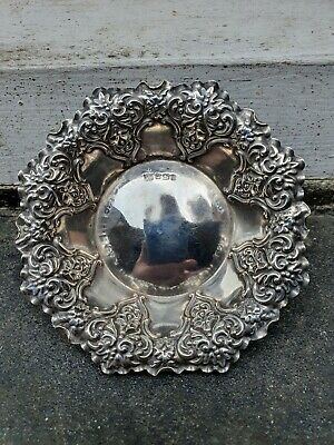 £69.95 • Buy Antique Solid Silver Sterling 925 Sheffield 1899 Pin Clip Dressing Dish Tray