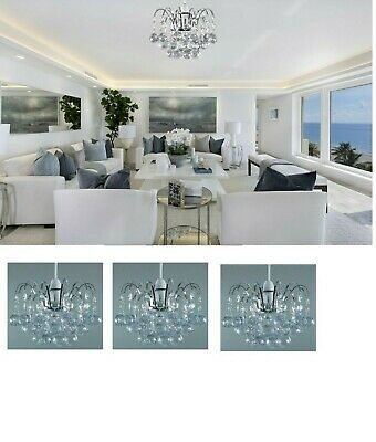 £13.99 • Buy Oriel Ceiling Acrylic Ball Drop Pendant Light Shade Fitting Clear Chandelier