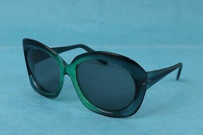 AU101.68 • Buy VINTAGE 1960's WOMENS LARGE MOD GREEN FRAME SUNGLASSES MADE IN ITALY GLASS LENS