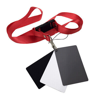 £3.02 • Buy White Black 18% Gray Color Balance Cards Digital Grey Card With Neck-Strap T8X7