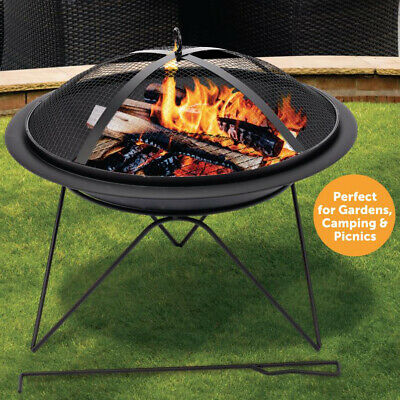 £67.99 • Buy Portable Round Fire Pit Outdoor Garden Firepit Patio Heater Camping Log Burner